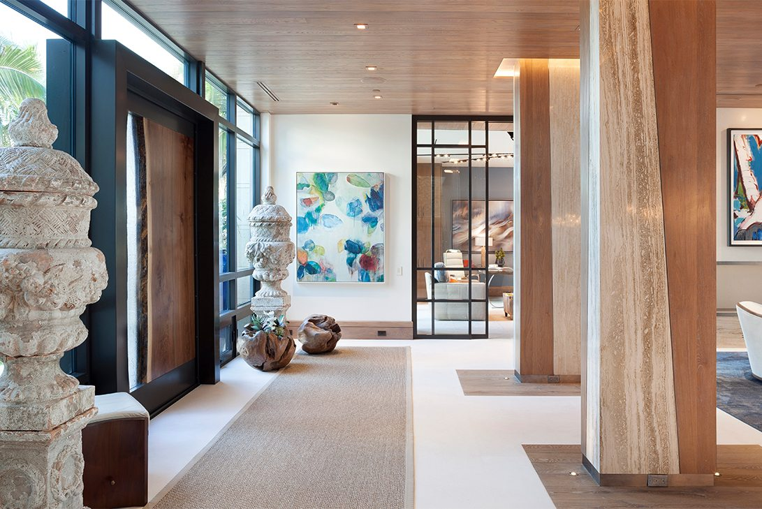 Marc Thee's 6 Ocean Modern Foyer Design