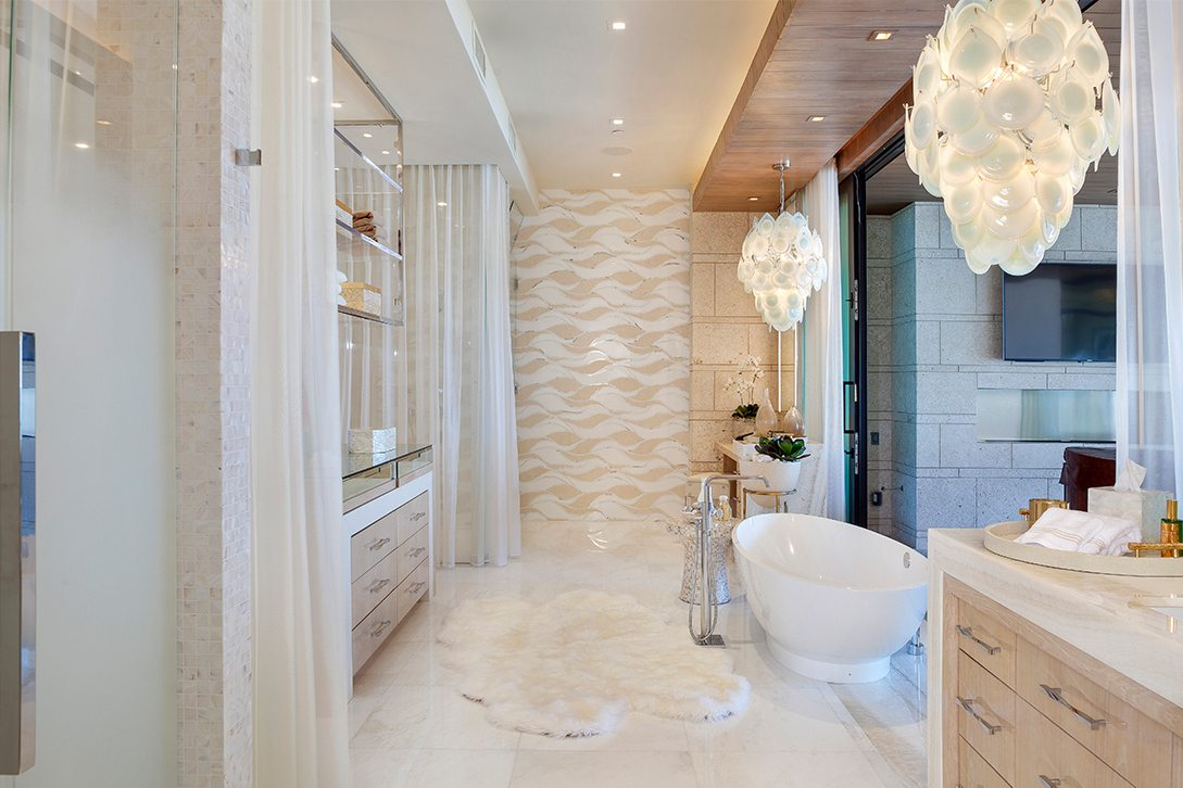 Marc Thee's 6 Ocean Modern Master Bathroom