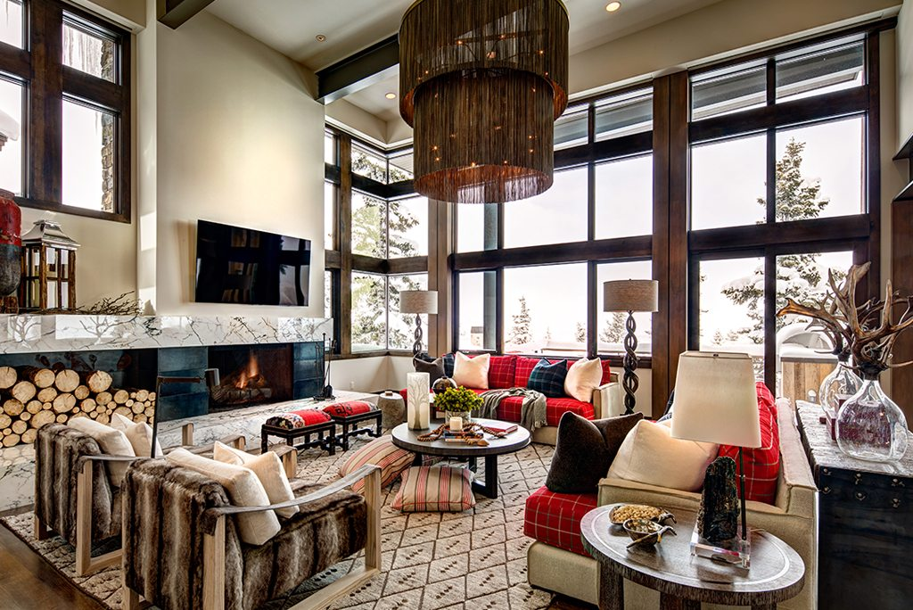 Rustic Modern Design Living Room