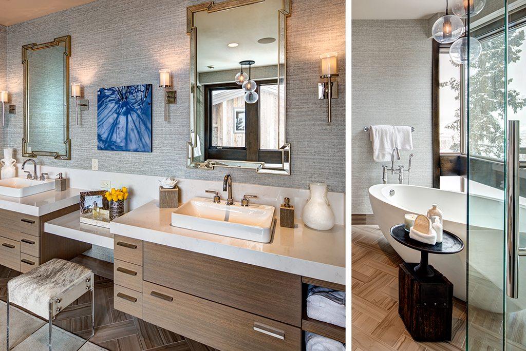 Rustic Modern Design Master Bathroom