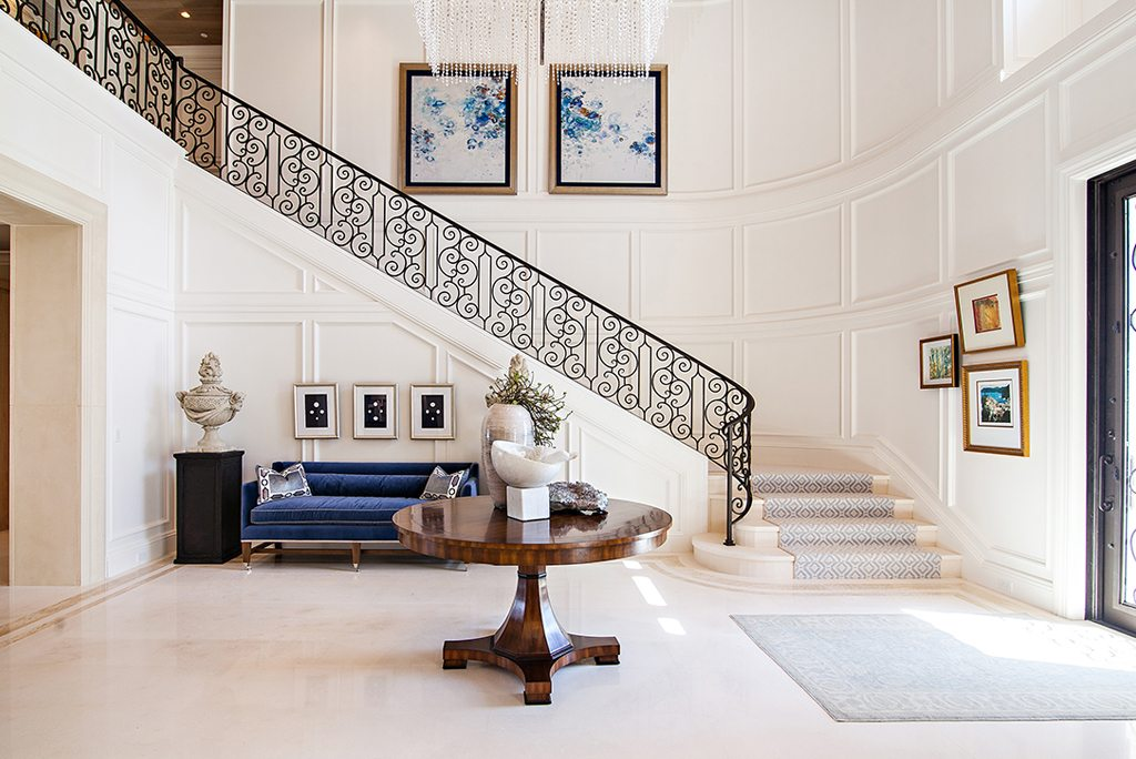 Transitional Design Foyer Staircase