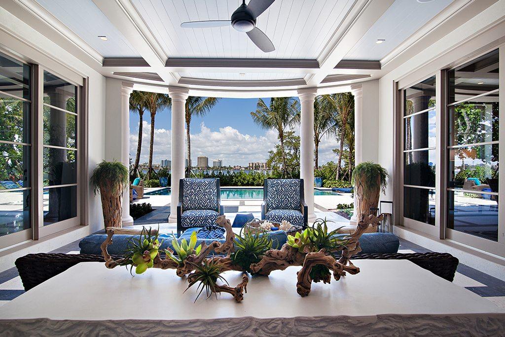 Transitional Design Indoor Outdoor Loggia