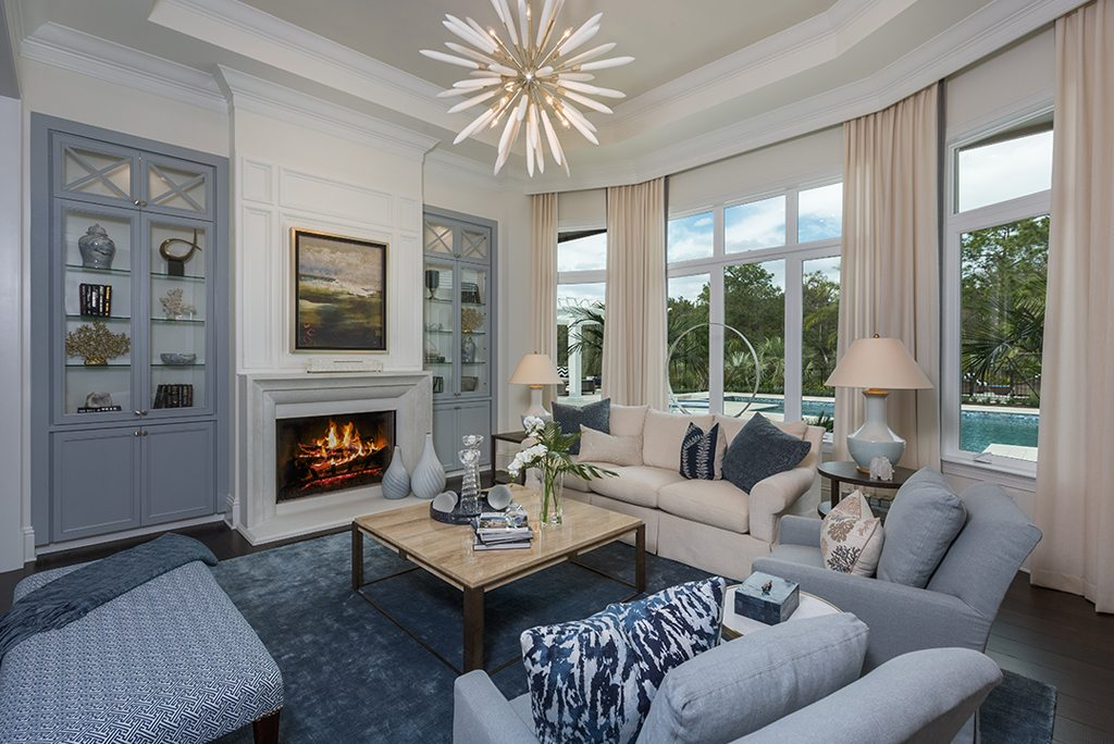 casually colonial design living room