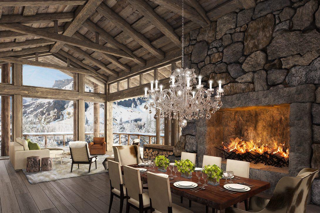 Marc-Michaels 51 degrees Leukerbad Switzerland Design Dining Room