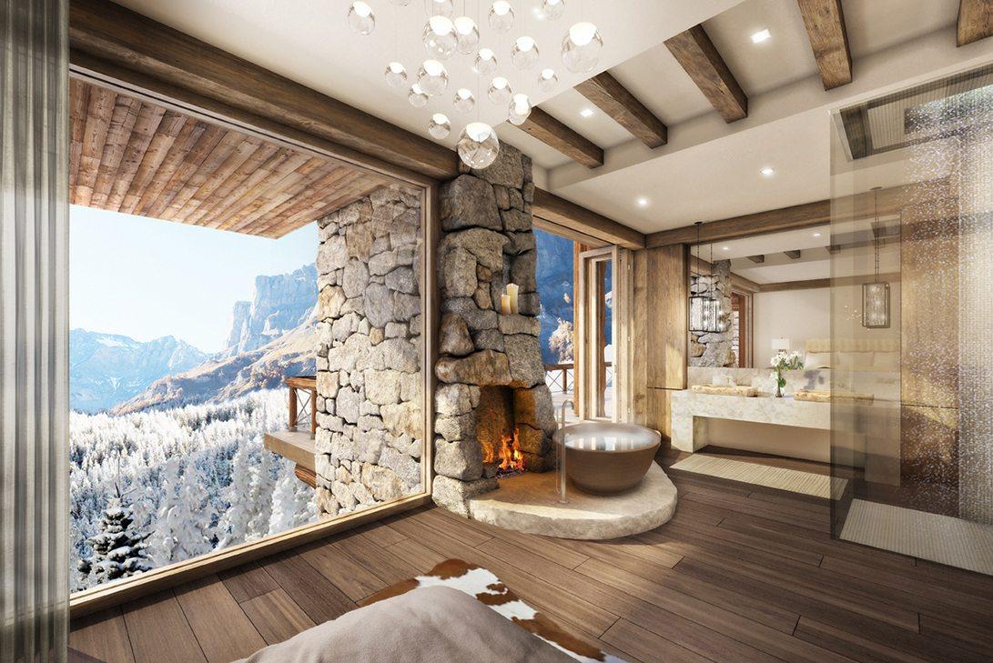 Marc-Michaels 51 degrees Leukerbad Switzerland Design Fireplace
