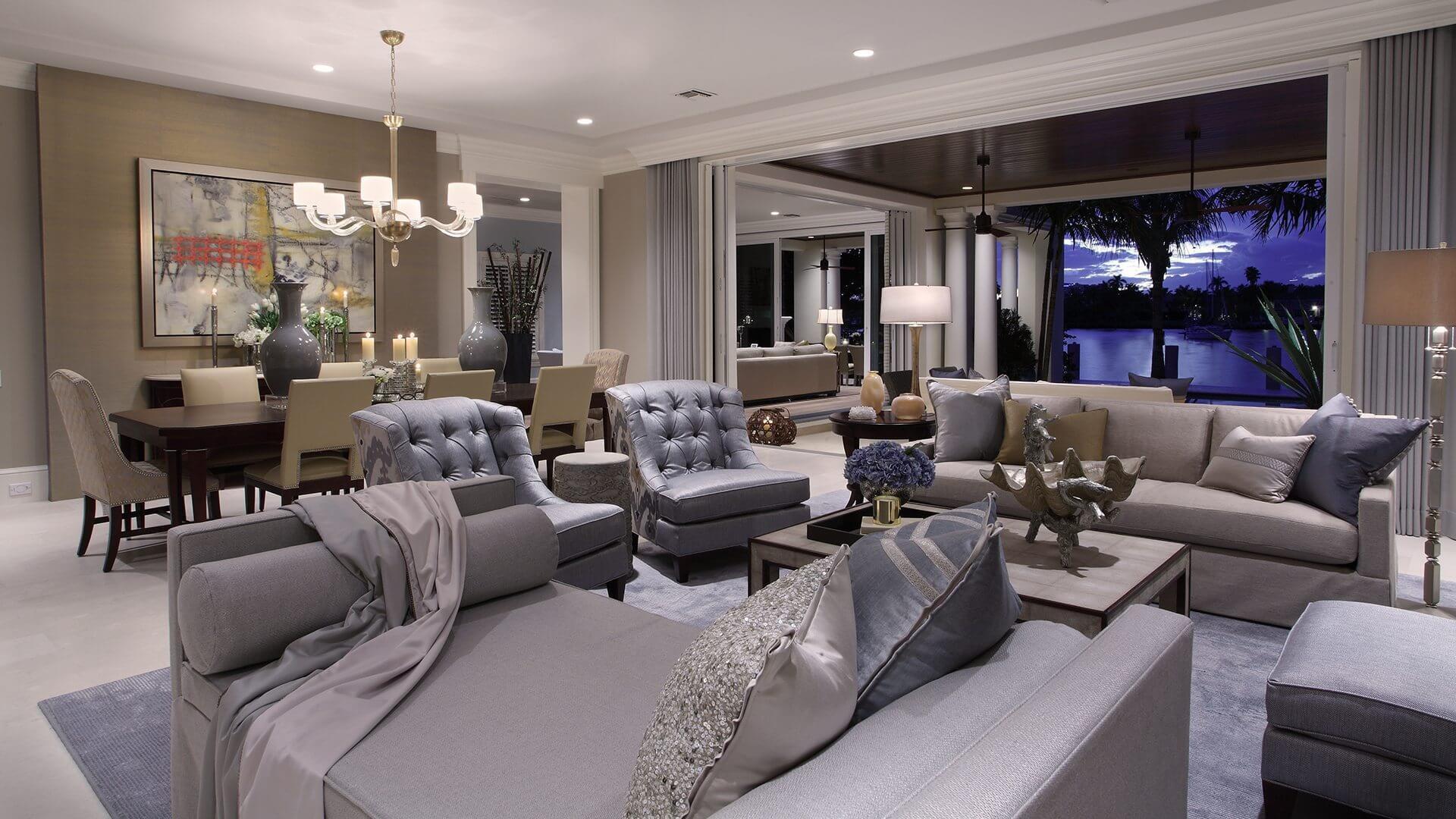 Marc-Michaels Fort Lauderdale Coastal Transitional Design Feature Living Space