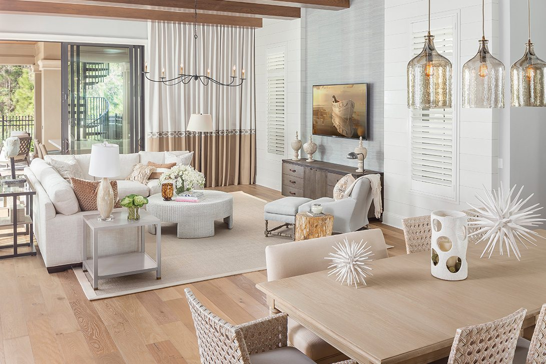 Marc-Michaels Golden Oak Design Living Room Space