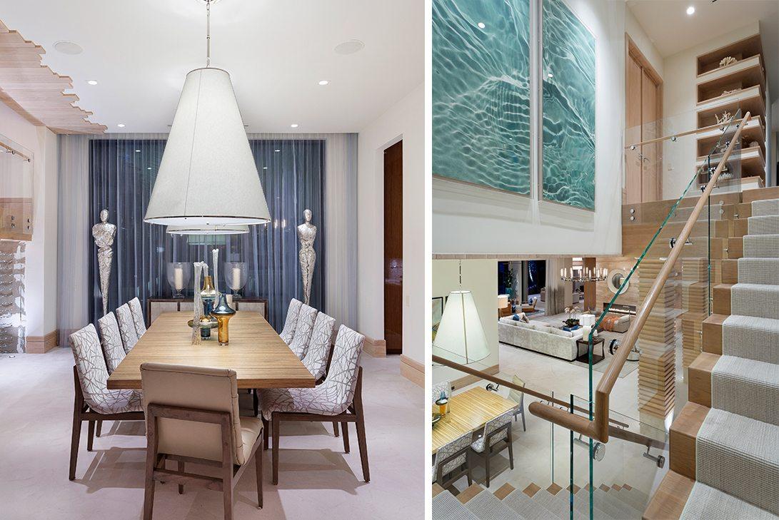 Marc-Michaels Ultra Modern Design Oceanfront Hillsboro Mile Estate Dining Area