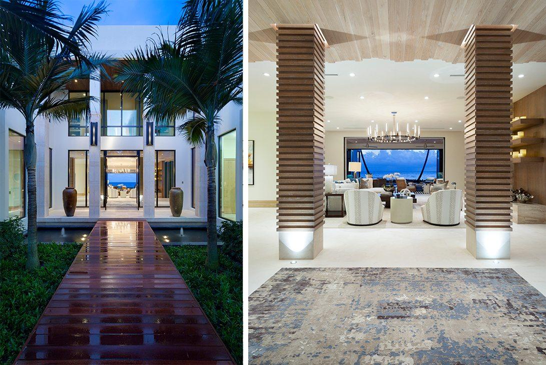 Marc-Michaels Ultra Modern Design Oceanfront Hillsboro Mile Estate Entry