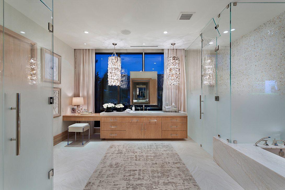 Marc-Michaels Ultra Modern Design Oceanfront Hillsboro Mile Estate Master Bath