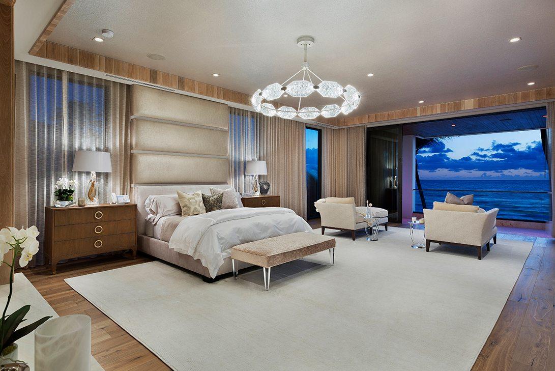 Marc-Michaels Ultra Modern Design Oceanfront Hillsboro Mile Estate Master Bedroom