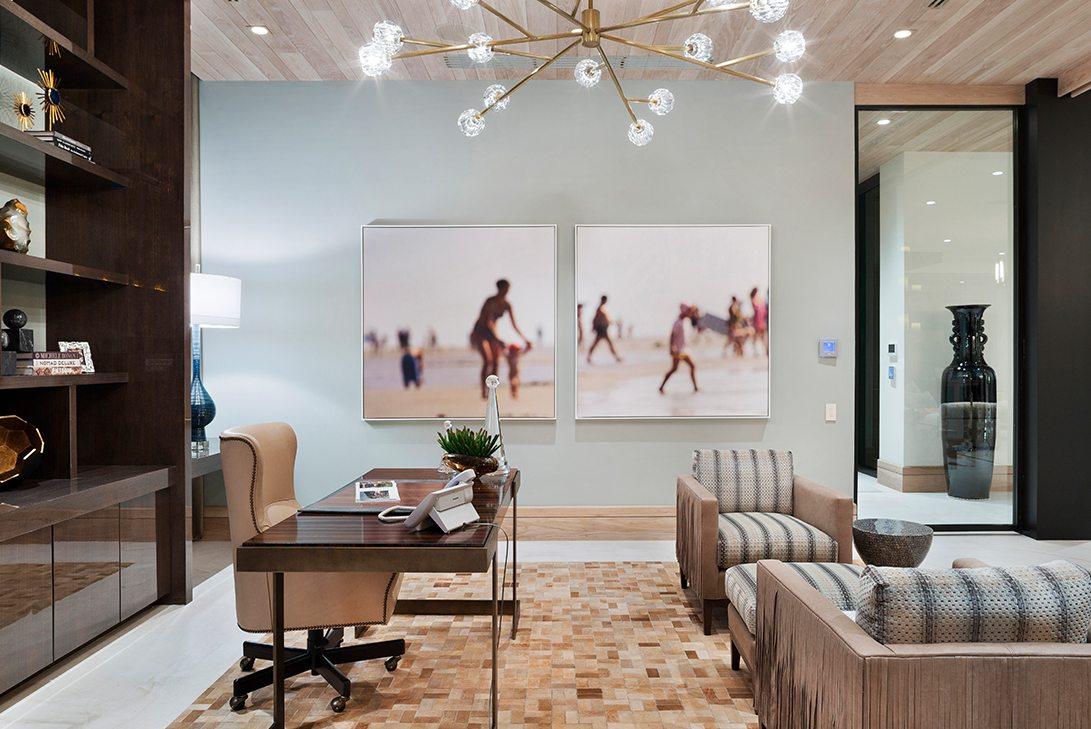 Marc-Michaels Ultra Modern Design Oceanfront Hillsboro Mile Estate Office