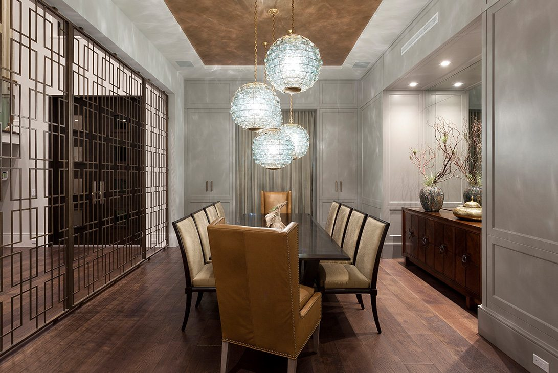 Marc-Michaels Modern Georgian Inspired Design Dining Room