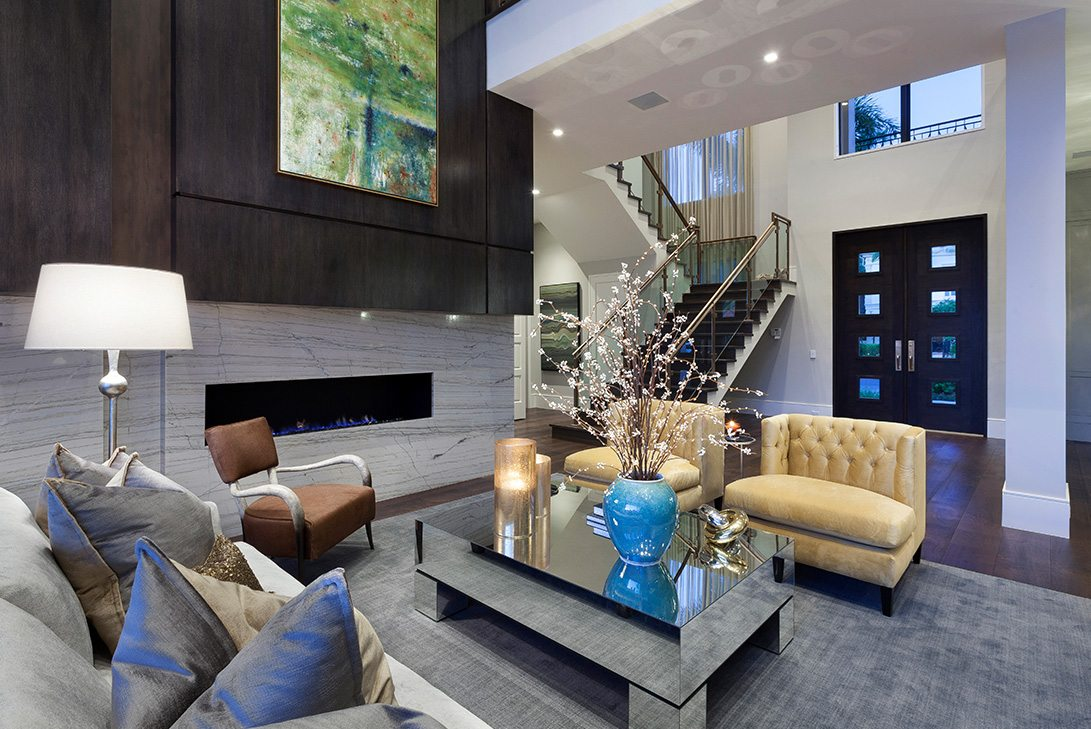 Marc-Michaels Modern Georgian Inspired Design Fireplace