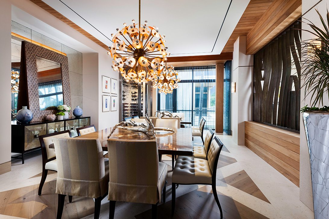 Marc-Michaels Modern Design Gulf Coast Estate Dining