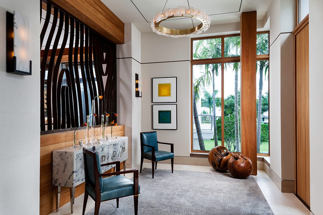 Marc-Michaels Modern Design Gulf Coast Estate Foyer