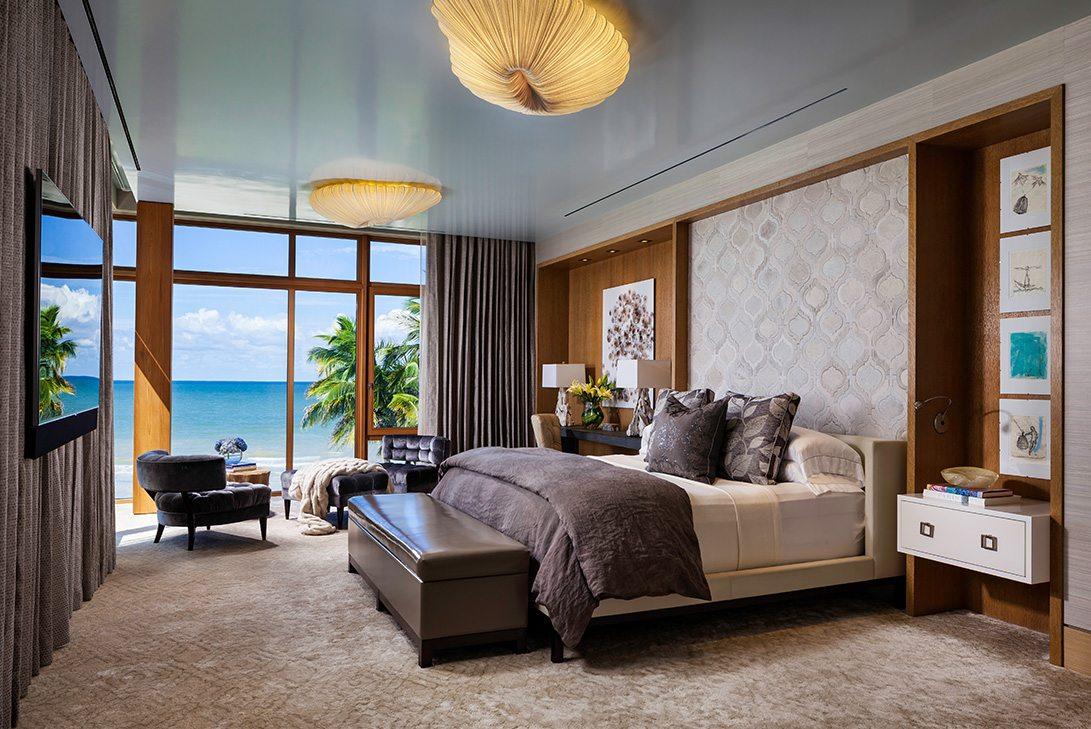 Marc-Michaels Modern Design Gulf Coast Estate Guest Bedroom