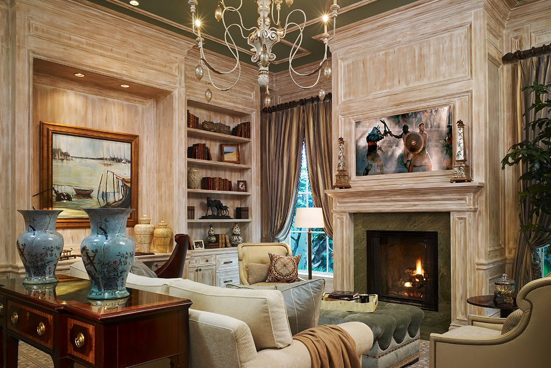 Traditional Design Fireplace in Palm Beach