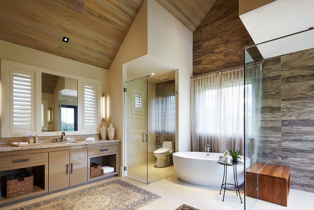 Contemporary Design Ranch Pine Creek Sporting Club Bathroom
