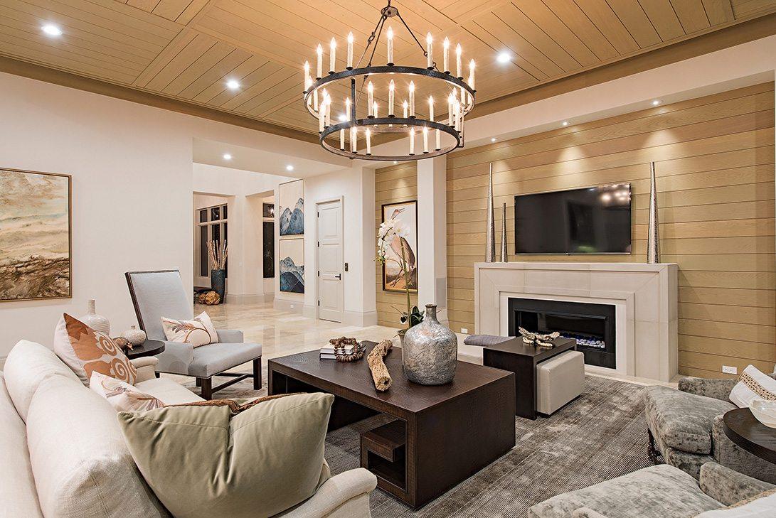 Modern Rustication Design Neapolitan Model Living Room