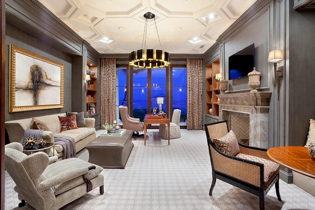 Traditional-Manalapan-Estate-Library