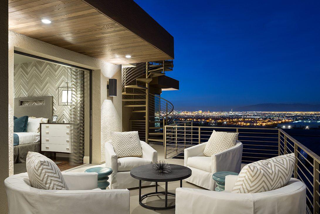 Marc-Michaels New American Home Design Loggia