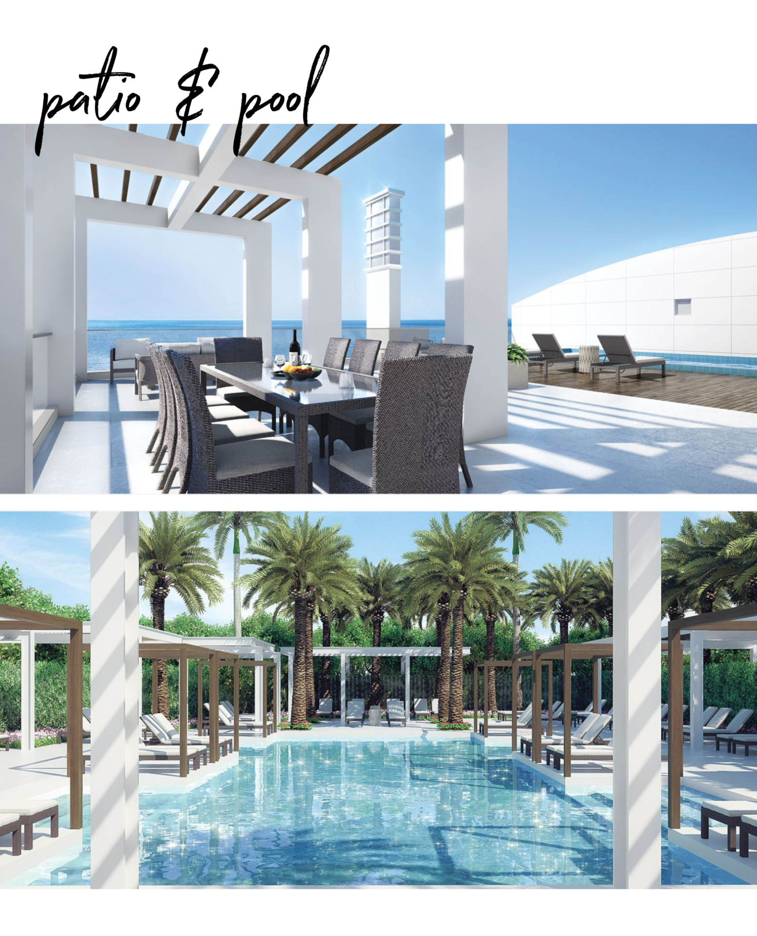 Mystique patio and pool