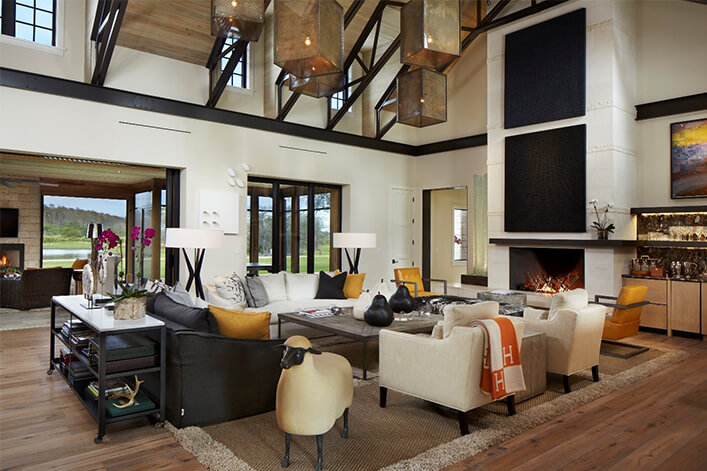 modern lodge style accents and decor examples