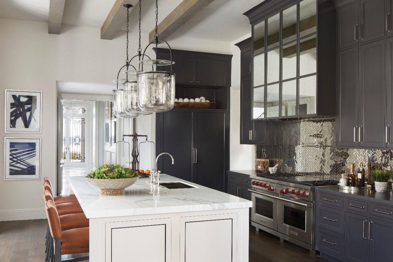 dark grey cabinet kitchen