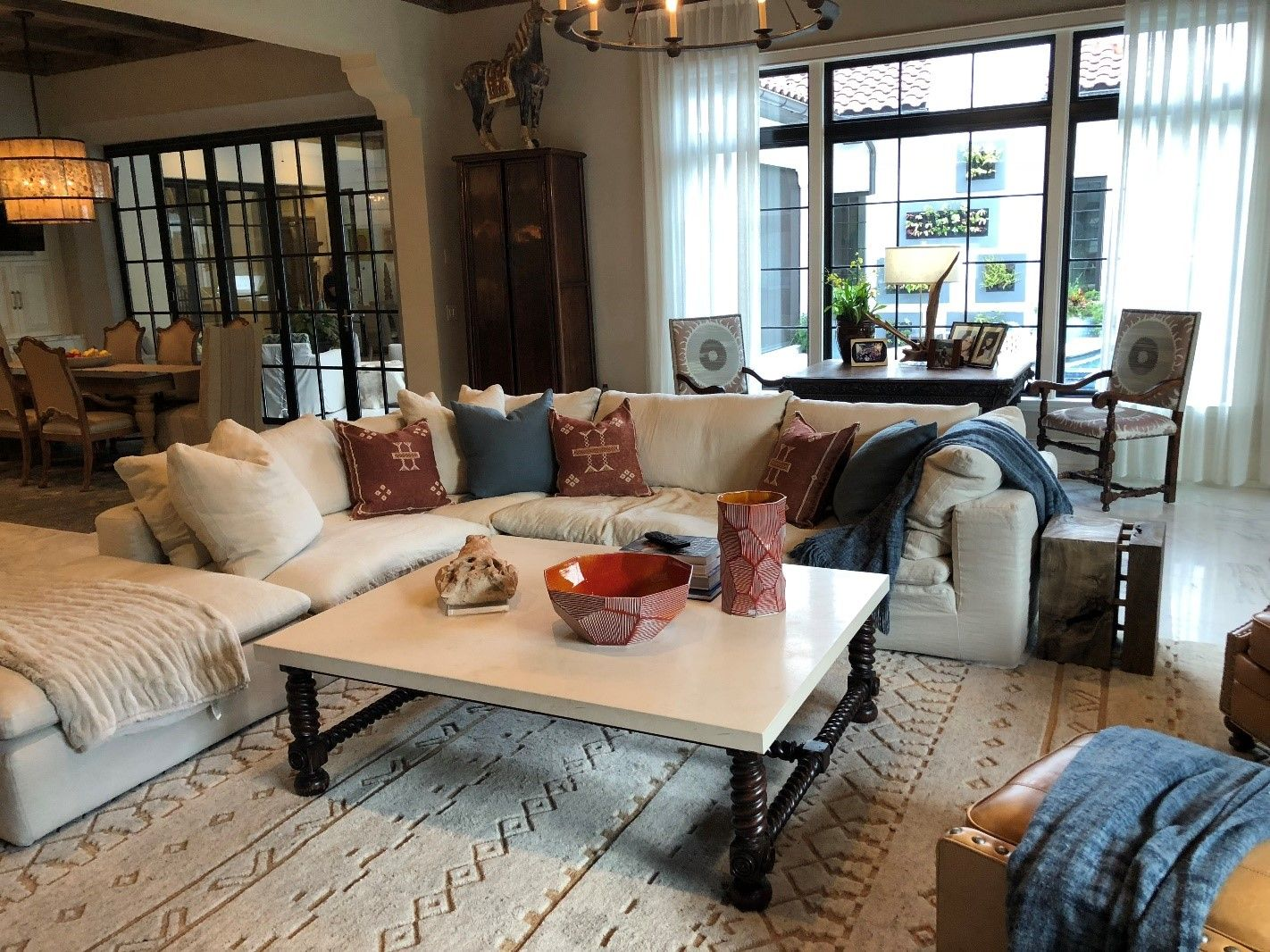 living room with neutral colors