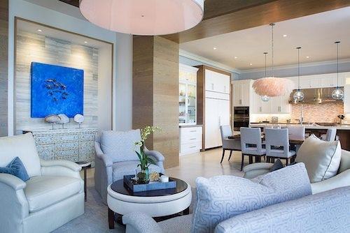 Coastal Island Themed Living Room and Dining Room
