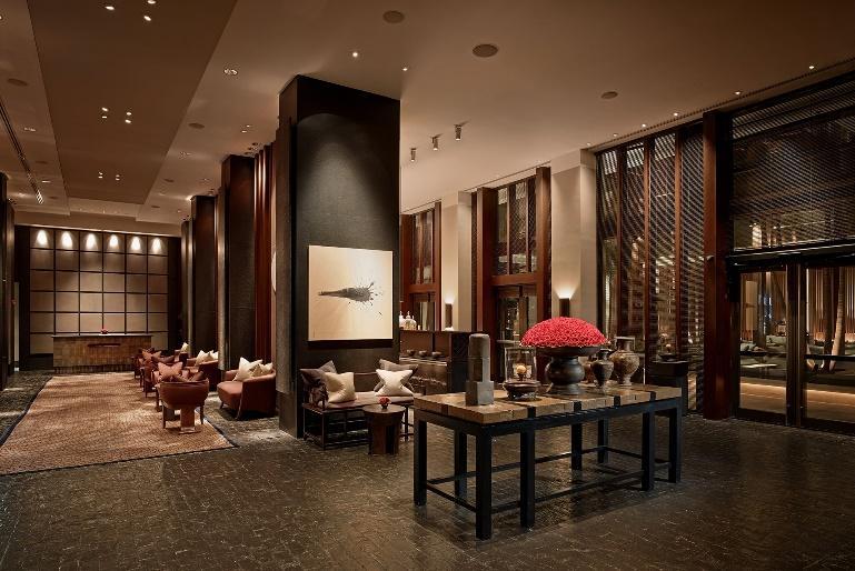 Setai Hotel Asian inspired luxury suites interior design