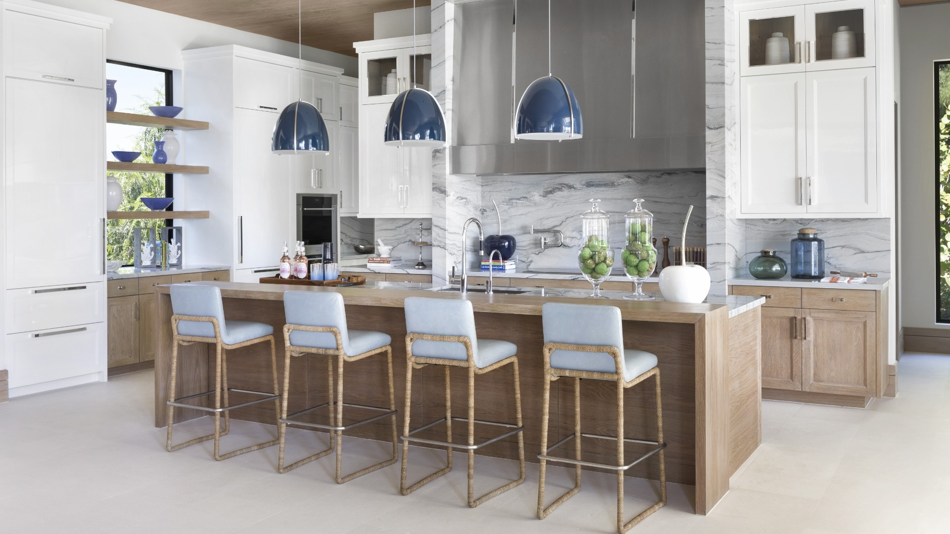 A beautiful Kitchen of a recently designed Marc-Michaels home