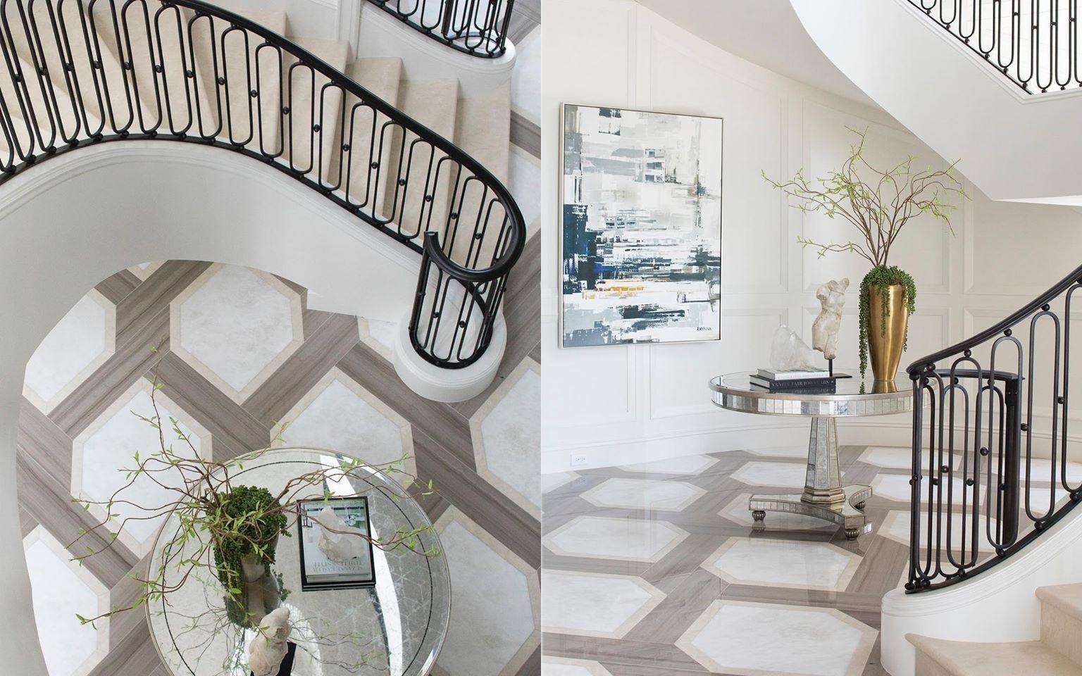 Palm Beach Estate's classically elegant grand foyer