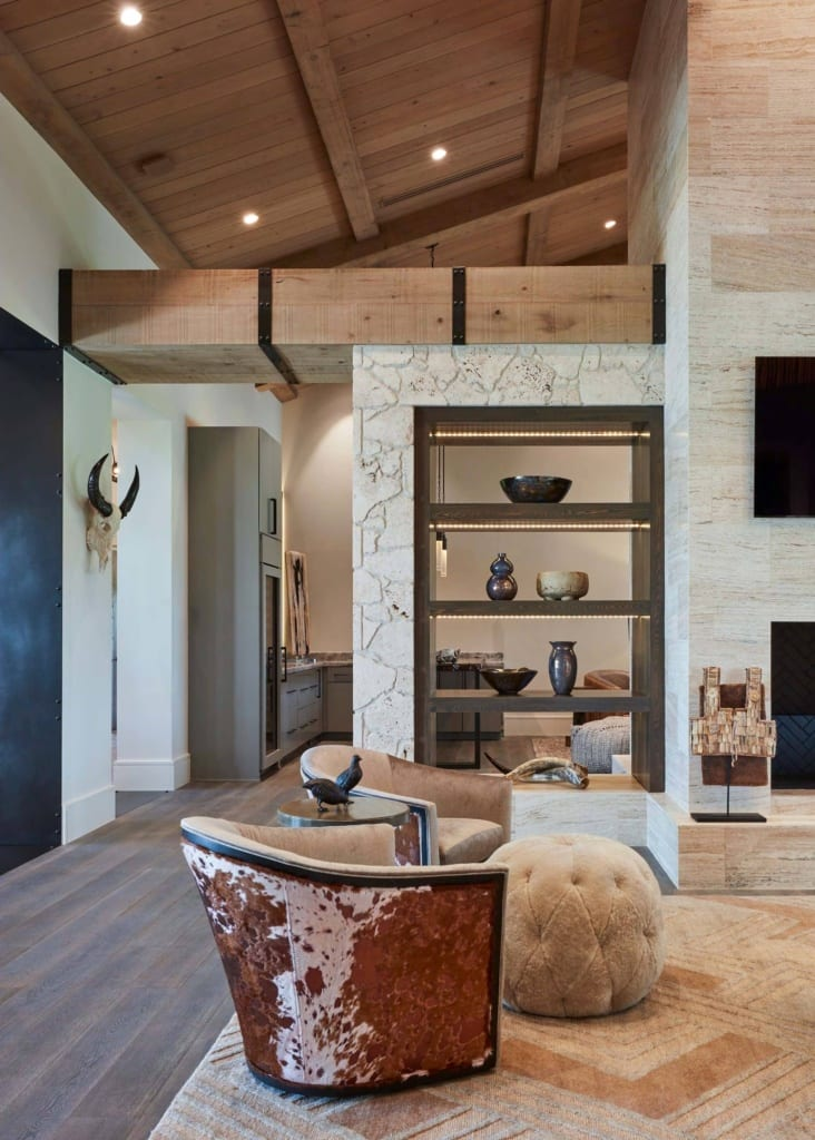 living room designed with texture